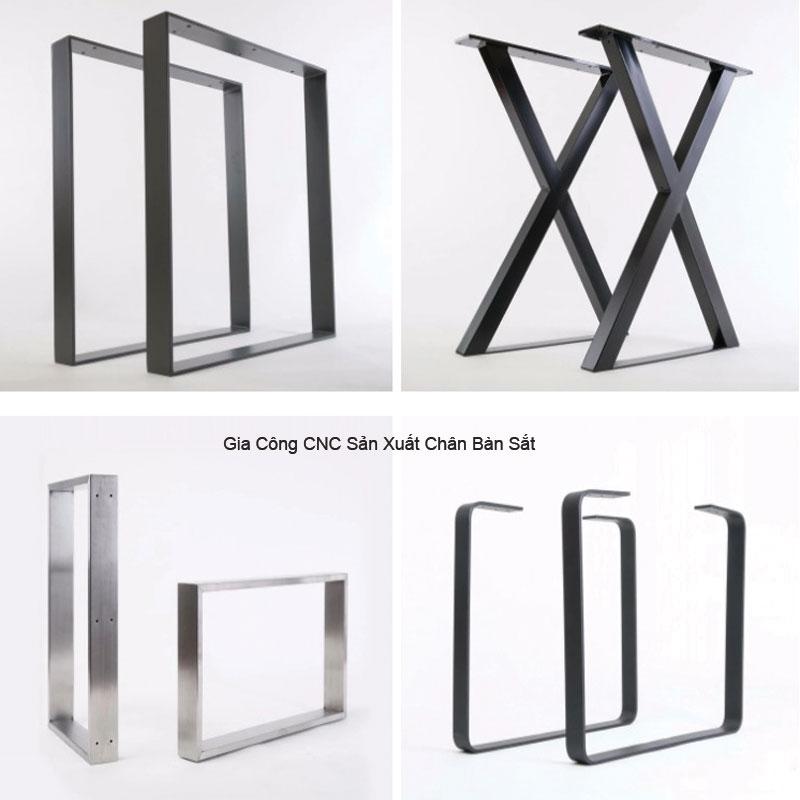 Thông số kỹ thuật chân sắt bàn làm việc chữ Z,K,U,X,L